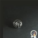 六字真言 925純銀 圓珠6mm【十方佛教文物】