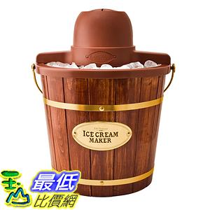 [美國直購] Nostalgia ICMW400 復古 木桶造型 冰淇淋機 Vintage Collection 4-Quart Wood Bucket Electric Ice Cream Maker