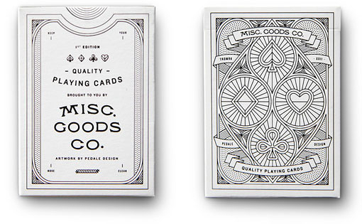 【USPCC撲克】Pedale design MISC GOODS playing cards V1 白 by USPCC