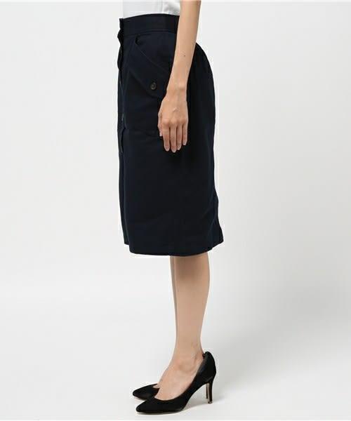 ❖ Hot item ❖ 立體口袋設計排釦窄身裙 - E hyphen world gallery