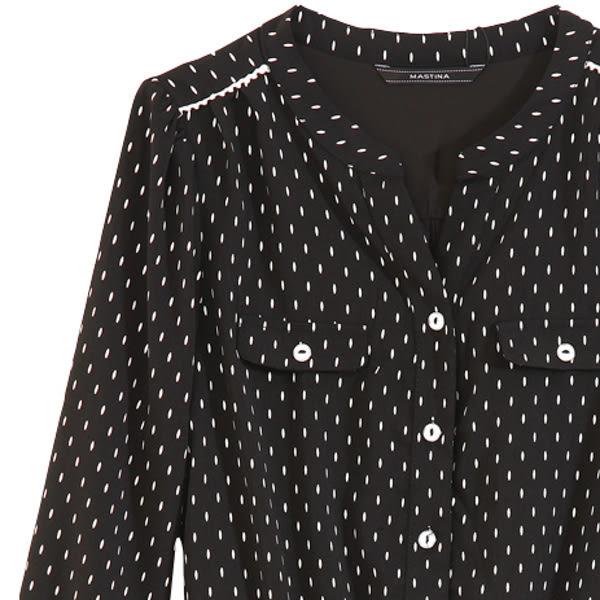 【MASTINA】小雨點造型排釦洋裝-黑 0530