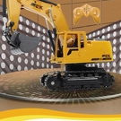 遙控車 大號合金電動遙控挖掘機 充電挖土機合金工程車模型 玩具鉤機男孩【快速出貨八折鉅惠】