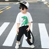 童裝男童夏裝套裝新款兒童洋氣網紅衣服男孩夏款帥氣韓版時髦 快速出貨