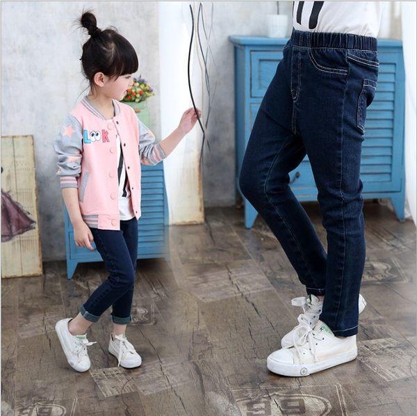 衣童趣♥韓版 中大女童 彈性 百搭牛仔長褲 暢銷熱賣款 秋冬必備長褲