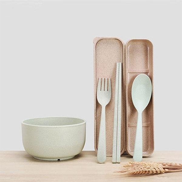 廚房用品 小麥纖維防滑餐具三件組 【KFS073】收納女王
