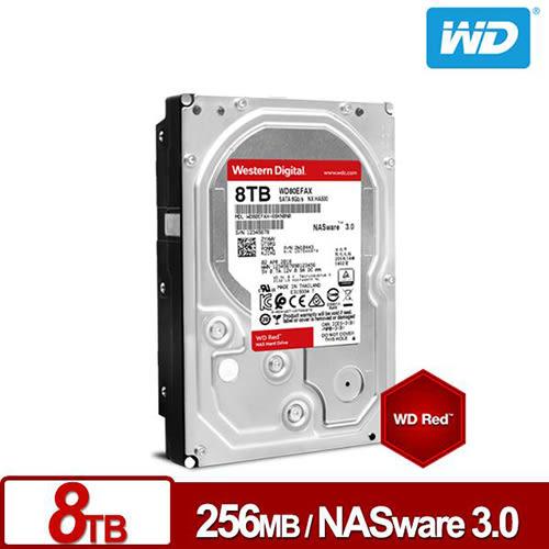 WD 紅標 8TB 3.5吋NAS硬碟 WD80EFAX