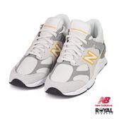 New Balance 新竹皇家 X-90 灰/黃色 網布 麂皮 拼接 休閒運動鞋 女款 NO.I9319