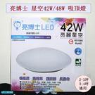 亮博士LED亮麗星空吸頂燈 42W/P42防水/3-4坪房間/客廳適用 三段亮度切換