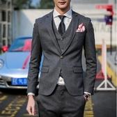 西裝套裝含西裝外套+西裝褲(三件套)-獨一無二自信設計新郎男西服73hc85【時尚巴黎】