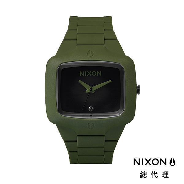 【官方旗艦店】NIXON RUBBER PLAYER 夏日繽紛 舒適錶帶 軍綠 潮人裝備 潮人態度 禮物首選