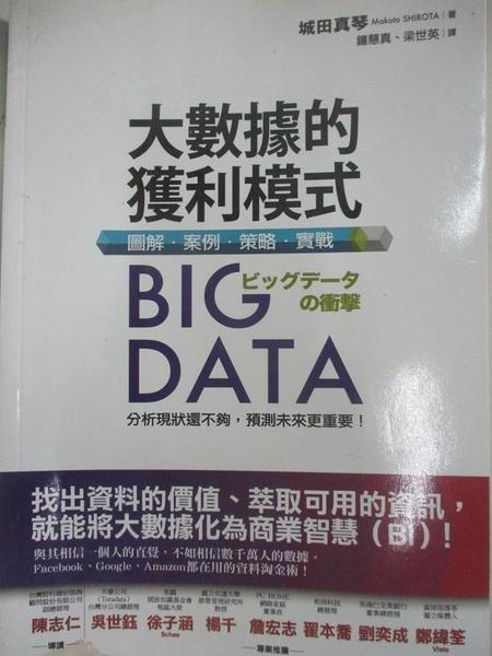 【書寶二手書T2/投資_BWN】Big Data大數據的獲利模式:圖解.案例.策略.實戰_城田真琴