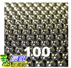 [106美國直購] 100 1/8 Inch Chrome Steel Bearing Balls G25