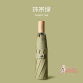 太陽傘 日系雨傘女手動三折疊傘森系大號復古雙人晴雨兩用簡約小型韓國 6色