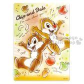 〔小禮堂〕迪士尼奇奇蒂蒂日製透明硬墊板《B5 棕食物》學童文具桌墊4946346 80045