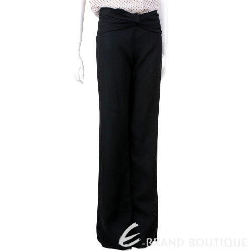 VALENTINO 黑色腰間抓皺長褲 0530046-01