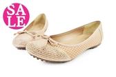 真皮女鞋 台灣製 氣質韻味 休閒鞋 包鞋 零碼出清 C4839#棕粉◆OSOME奧森鞋業