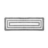 T HOUSE 超細纖吸水踏墊45x130cm 回紋灰