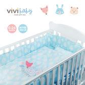 ViVibaby 夢幻森林嬰兒寢具五件組(藍)