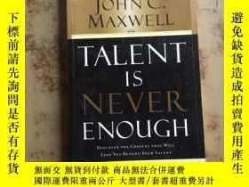 二手書博民逛書店Talent罕見Is Never Enough(英文原版)Y26