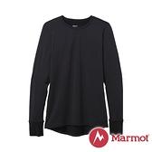 【Marmot】女 Polartec 圓領防曬抑味彈性長袖排汗衣『黑』82170 戶外 登山 露營 保暖 禦寒 防風 上衣