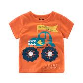 橘底越野車印花短袖T恤 T-shirt 童裝 短袖