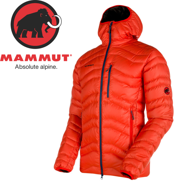 【MAMMUT 男 Broad Peak IN H連帽羽絨外套《辛辣紅》】1010-18460/羽絨衣