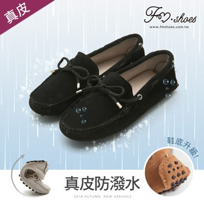 包鞋.全真皮防潑水豆豆鞋(黑)-FM時尚美鞋-Collection.Autumnal