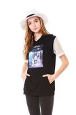 【 BETTY BOOP 】春夏品牌服飾特賣~戴帽貝蒂袖接網布連帽上衣 NO.BS18206