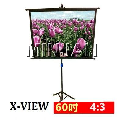 【預計八月九月到貨】X-view 可攜式支架幕 SWN-6043KZ 60吋 4:3 上黑邊5cm 簡約風外罩