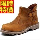 馬丁靴-英倫真皮革工裝軍靴短筒男靴子1色...