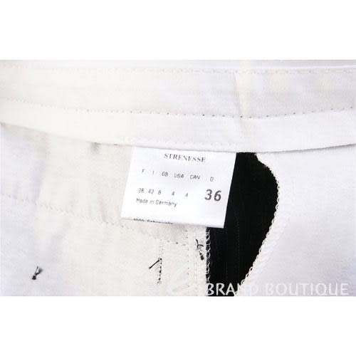 STRENESSE 黑色條紋西裝褲 0510086-37