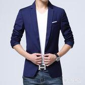 西裝套裝 夏季休閒西服青年修身帥氣商務小西裝男大碼套裝 QQ7186『東京衣社』
