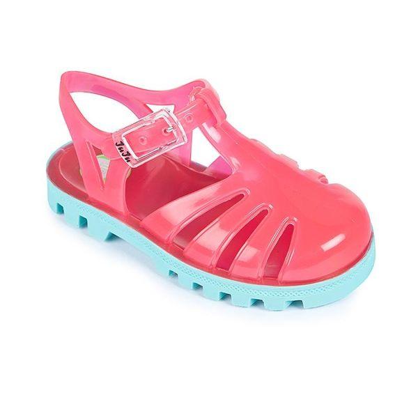 英國 Project Jelly JUJU果凍涼鞋/兒童涼鞋-草莓粉x粉藍 (13-21cm)