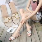 拖鞋女 網紅拖鞋女夏時尚外穿2020新款韓版平底一字型涼拖大碼41小碼3233 一次元
