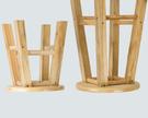 木質加固木質熊貓凳小圓凳子換鞋凳浴室凳簡約圓凳木凳子矮凳板凳WY【快速出貨】