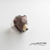 yunique Backyard  棕熊頭戒指