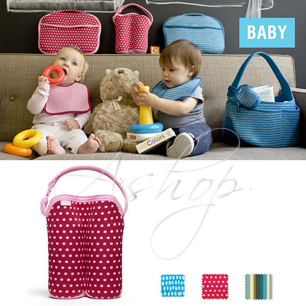 【A Shop】 BUILT NY Bottle Buddy Two Bottle Tote 奶瓶雙瓶保溫套 BBY-BBD2系列-共3色