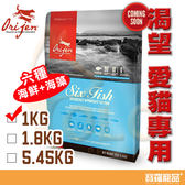 Orijen渴望愛貓六種魚1kg【寶羅寵品】