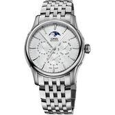ORIS 豪利時 Artelier 藝術家月相盈虧機械手錶-銀/40mm 0178177034051-0782177
