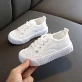 兒童帆布鞋1-3-5歲春款男童女童布鞋寶寶小白鞋布鞋小童休閒鞋子 快速出貨