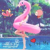火烈鳥泳圈成人天鵝浮圈少女心可愛粉色大號充氣救生圈加厚游泳圈igo 范思蓮恩