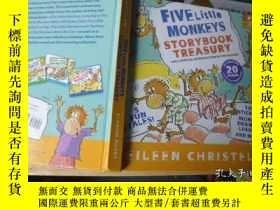 二手書博民逛書店Five罕見Little Monkeys Storybook T