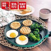 煎鍋多功能七孔早餐鍋牛肉煎鍋煎蛋鍋不粘電磁爐通用kitchenw   麻吉铺