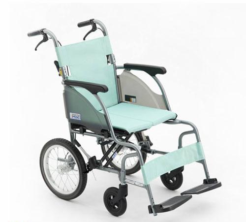 小輪輪椅 均佳 日本MIKI 8.4公斤 輕量型 鋁合金輪椅 機械式輪椅 CRT-2(綠/粉)