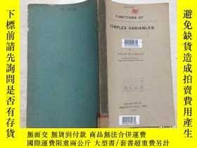 二手書博民逛書店FUNCTIONS罕見OF COMPLEX VARIABLES