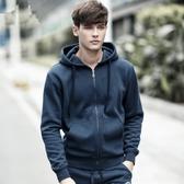 棉質連帽外套男士日系中大尺碼青少年運動休閒連帽衫
