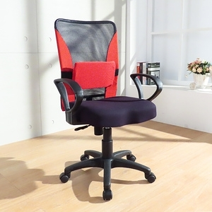 LOGIS  Feel-Good扶手款電腦椅 辦公椅 事務椅 K014紅色