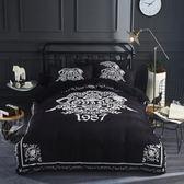 床笠  床罩 純色黑白床單床上潮牌寶寶絨水晶絨四件套床笠款冬季加厚保暖大牌