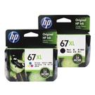 【一黑一彩組合】HP NO.67XL 67XL 原廠高容量墨水匣 適用Envy Pro 6020 AiO / 6420 AiO