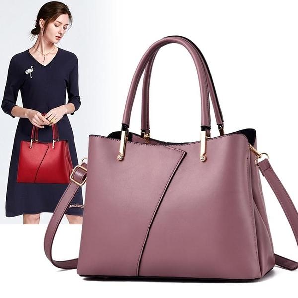 包包女2020新款軟皮女包中年媽媽手提包時尚百搭大容量側背斜背包 漫步雲端